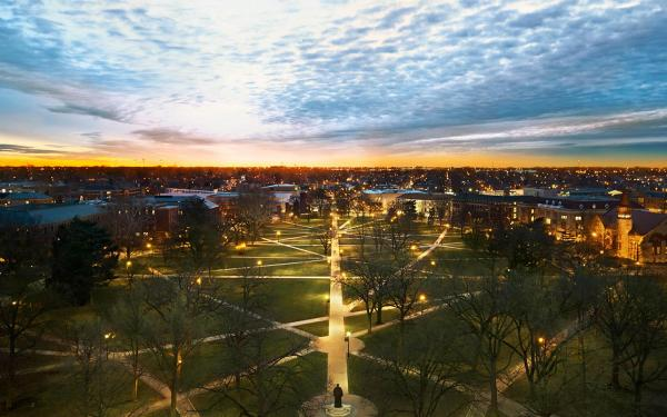 Ohio State Oval at dawn
