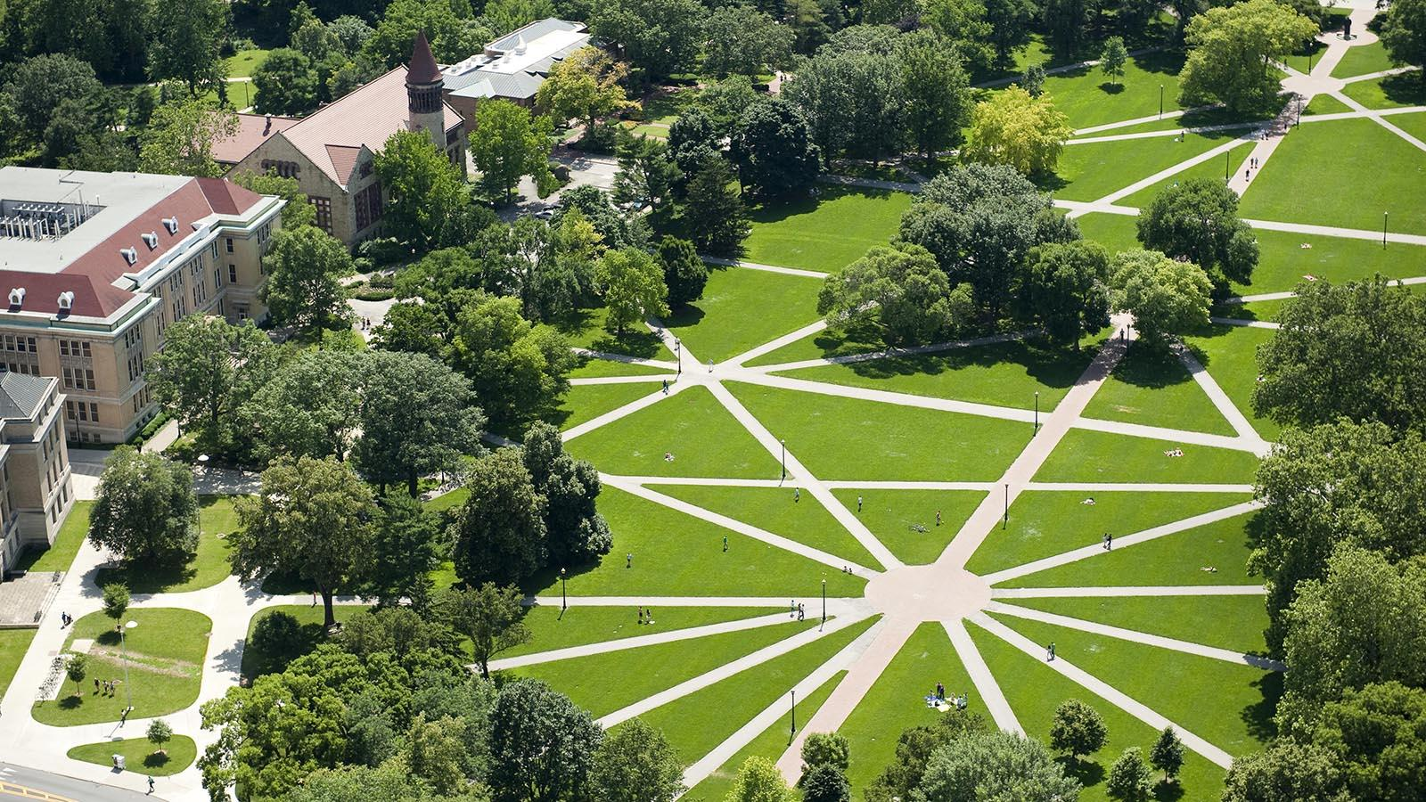 Aerial view of Ohio State Oval