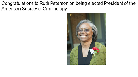 Ruth Peterson elected President of ASC!